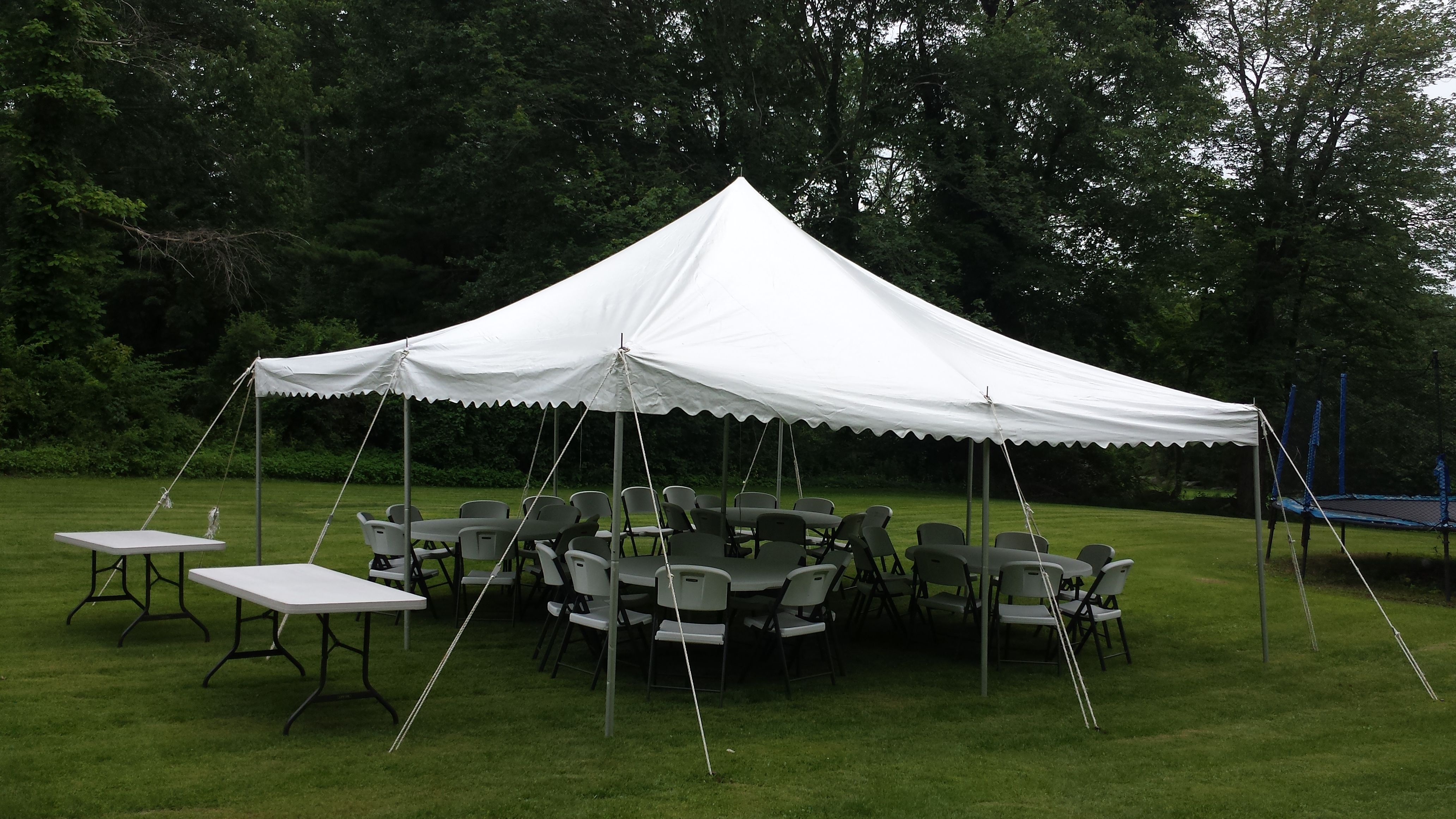 Graduation Party Package #2 - INCLUDES Tent Setup, tent, table, chairs, more