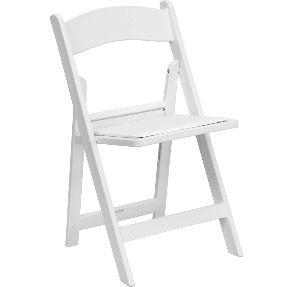 Chairs- Folding, White Resin,