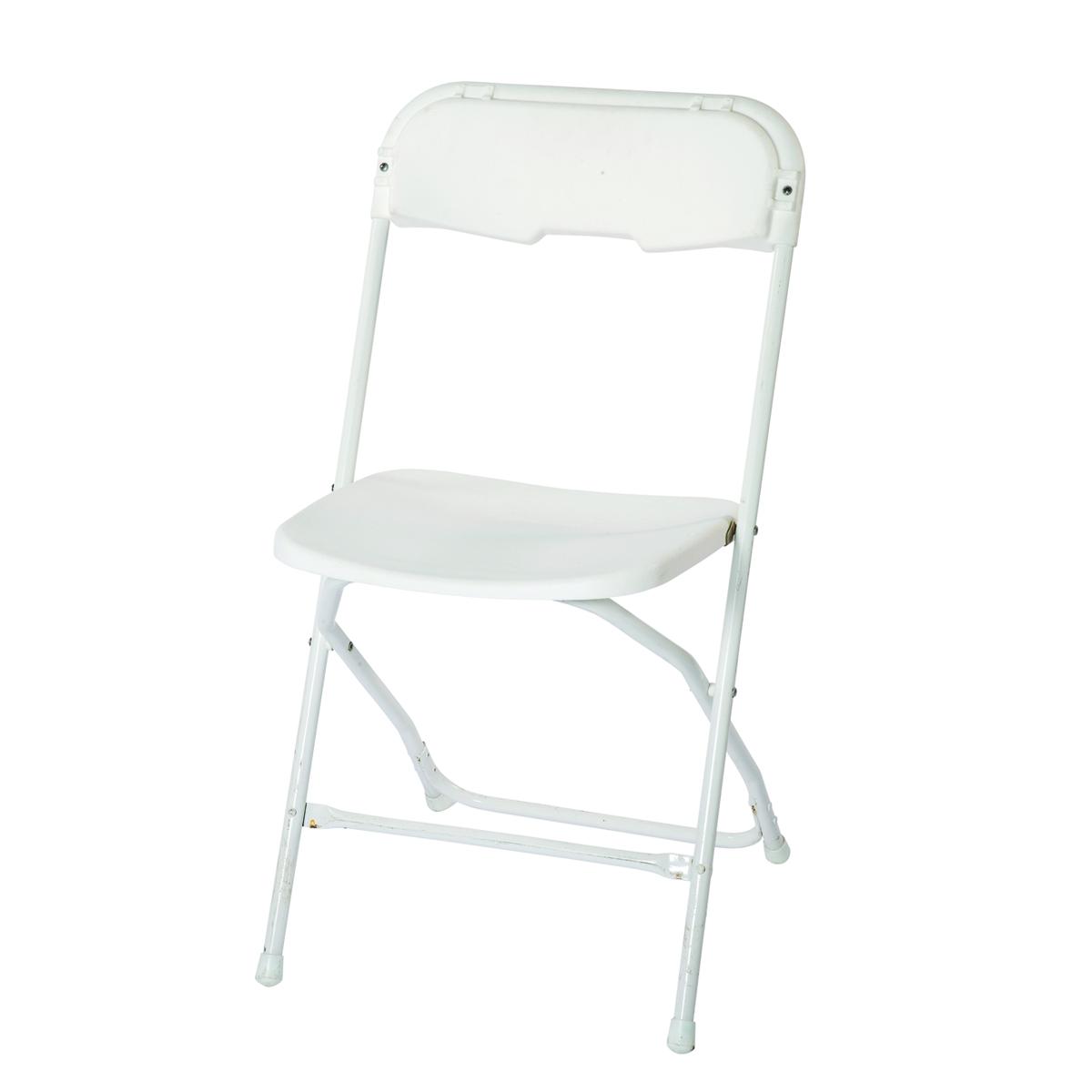 Chairs- Samsonite, folding, white