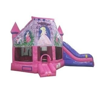 Pink Princess Castle Combo Bouncer, 26 ft x 18ft