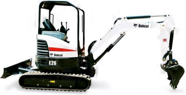 Bobcat E26 Compact Excavator - 6000 lb